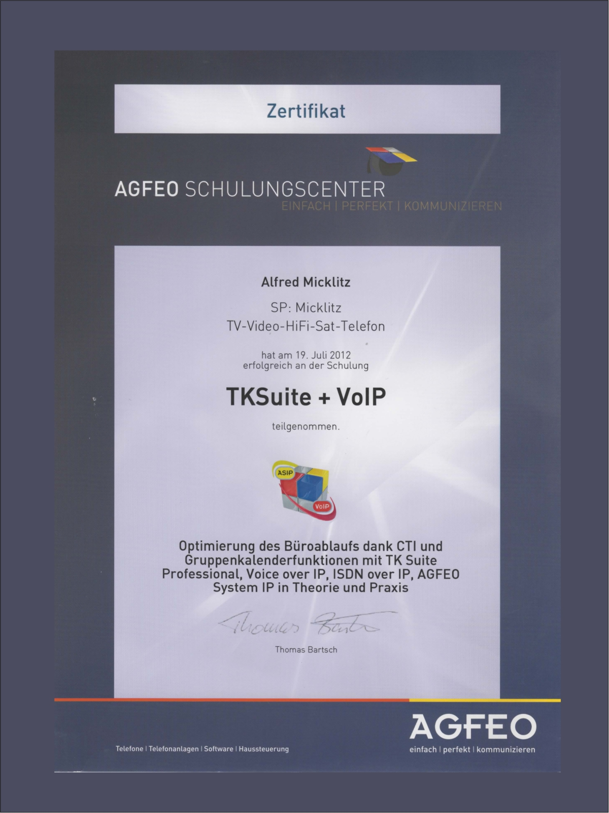 Agfeo TKSuite + VoIP