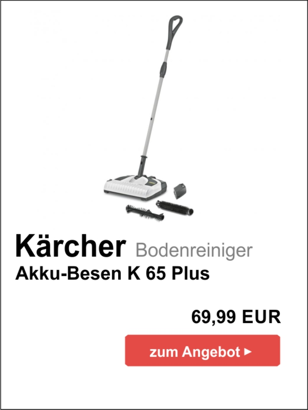 Kärcher Akku-Besen K65 Plus